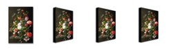 "Trademark Global Jan Davidsz. de Heem 'Still Life of Flowers' Canvas Art - 24"" x 16"""