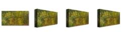 "Trademark Global Claude Monet 'The Japanese Bridge II' Canvas Art - 24"" x 12"""