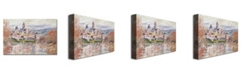 "Trademark Global Claude Monet 'The Village of Vetheuil' Canvas Art - 47"" x 30"""