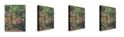"Trademark Global Paul Cezanne 'In the Park of Chateau Noir' Canvas Art - 32"" x 24"""