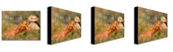 "Trademark Global Pierre Auguste Renoir 'Young Girls by the Water' Canvas Art - 24"" x 18"""