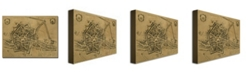 "Trademark Global Pierre Mortier 'Map of Rovigo 1704' Canvas Art - 14"" x 19"""
