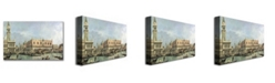 "Trademark Global Canaletto 'The Molo and the Piazzetta' Canvas Art - 32"" x 18"""