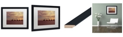 "Trademark Global David Evans 'Sunset-Jumeirah Vittaveli' Matted Framed Art - 16"" x 20"""
