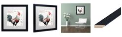 """Trademark Global Jennifer Redstreake 'Dans la Ferme Rooster III' Matted Framed Art - 16"""" x 16"""""""