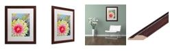"""Trademark Global Jennifer Redstreake 'Thistle' Matted Framed Art - 16"""" x 20"""""""