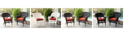 Jeco Wicker Chair with Cushion - Set of 2