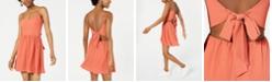 B Darlin Juniors' Bow-Back Crepe Dress