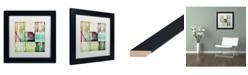 "Trademark Global Color Bakery 'Beach Bound' Matted Framed Art - 11"" x 11"""
