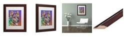 """Trademark Global Dean Russo 'Keefer' Matted Framed Art - 11"""" x 14"""""""