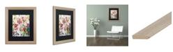 """Trademark Global Carrie Schmitt 'Wild Rose' Matted Framed Art - 16"""" x 20"""""""