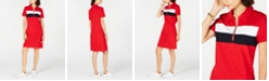 Tommy Hilfiger Colorblocked Zip-Neck Polo Dress