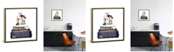 """iCanvas Stack of Fashion Books with Makeup I by Amanda Greenwood Gallery-Wrapped Canvas Print - 26"""" x 26"""" x 0.75"""""""