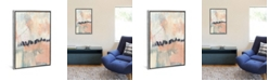 """iCanvas Blush and Navy Ii by Jennifer Goldberger Gallery-Wrapped Canvas Print - 40"""" x 26"""" x 0.75"""""""