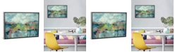 """iCanvas Abstract Lakeside by Silvia Vassileva Gallery-Wrapped Canvas Print - 18"""" x 26"""" x 0.75"""""""