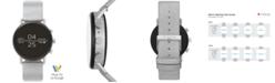 Skagen Men's Falster 2 Reflective Silver-Tone Strap Touchscreen Smart Watch 40mm, Powered by Wear OS by Google™