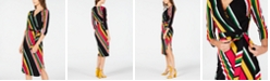 INC International Concepts INC Striped Wrap Dress, Created for Macy's