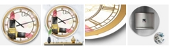 Designart Posh and Luxe Oversized Metal Wall Clock