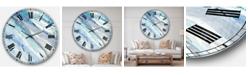 Designart Modern Lake House Oversized Metal Wall Clock