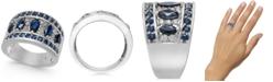 Macy's Sapphire (2-7/8 ct. t.w.) & Diamond (1/4 ct. t.w.) Statement Ring in 14k White Gold
