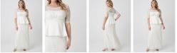 Kiyonna Women's Plus Size Poised Peplum Wedding Gown