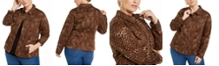 Charter Club Plus Size Cheetah-Print Jacket, Created for Macy's