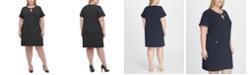 Tommy Hilfiger Plus Size Scuba Crepe Pocket Shift Dress