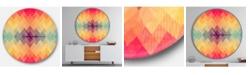 Design Art Designart Oversized Contemporary Round Metal Wall Clock