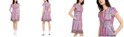 Nanette Lepore Mixed-Print A-Line Dress