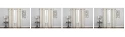 Regal Home Embroidered Lattice Room Darkening Grommet Curtain