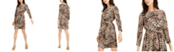 Vince Camuto Animal-Print Dress
