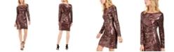 Vince Camuto Sequined Animal-Print Sheath Dress