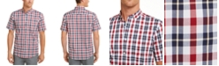 Club Room Men's Regular-Fit Stretch Plaid Shirt, Created For Macy's