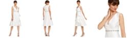 Adrianna Papell Tea-Length Mikado Dress