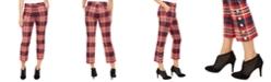 Trina Turk Mercury Plaid Straight-Leg Pants