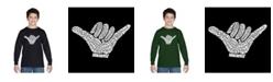 LA Pop Art Boy's Word Art Long Sleeve T-Shirt - Top Worldwide Surfing Spots