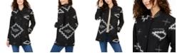 Pendleton Leather-Collar Wool Topper Coat