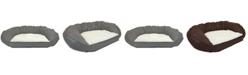Precious Tails Vegan Leather Curved Orthopedic Memory Foam Sofa Pet Bed - Large