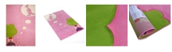 """IVI Dream Pink Soft Nursery Rug with a Playful Design for Kids Bedrooms and Playrooms, Non-Toxic, Hypo-Allergnic, 72""""L x 54""""W"""