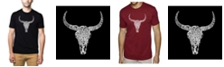 LA Pop Art Men's Word Art T-Shirt - Texas Skull