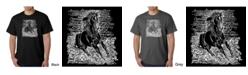 LA Pop Art Men's Word Art T-Shirt - Horse Breeds