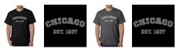 LA Pop Art Men's Word Art T-Shirt - Chicago 1837