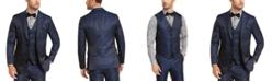 Tallia Men's Navy & Black Animal Print Vest
