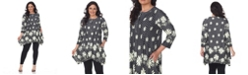 White Mark Plus Size Magdalena Tunic/Top