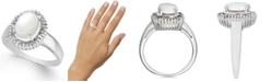 Macy's Opal (3/4 ct. t.w.) & Diamond (1/3 ct. t.w.) Ring in 14k White Gold