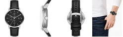 A|X Armani Exchange Men's Cayde Black Leather Strap Watch 42mm