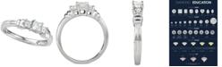 Macy's Diamond Princess Trio Diamond Engagement Ring (1/2 ct. t.w.) in 14k White Gold