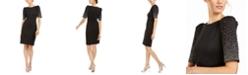 Calvin Klein Embellished-Sleeve Sheath Dress