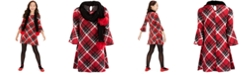 Sequin Hearts Big Girls 2-Pc. Plaid Dress & Scarf Set