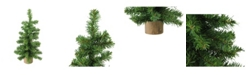 """Northlight 12"""" Alpine Artificial Christmas Tree With Wood Base Table Top Decoration - Unlit"""